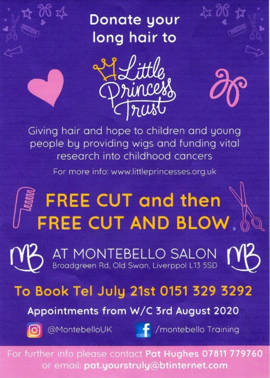 DONATE YOUR HAIR AFTER LOCKDOWN TO LITTLE PRINCESS TRUST